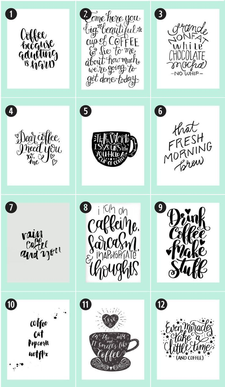 Coffee Free Printables 180 Ultimate Guide Free printables