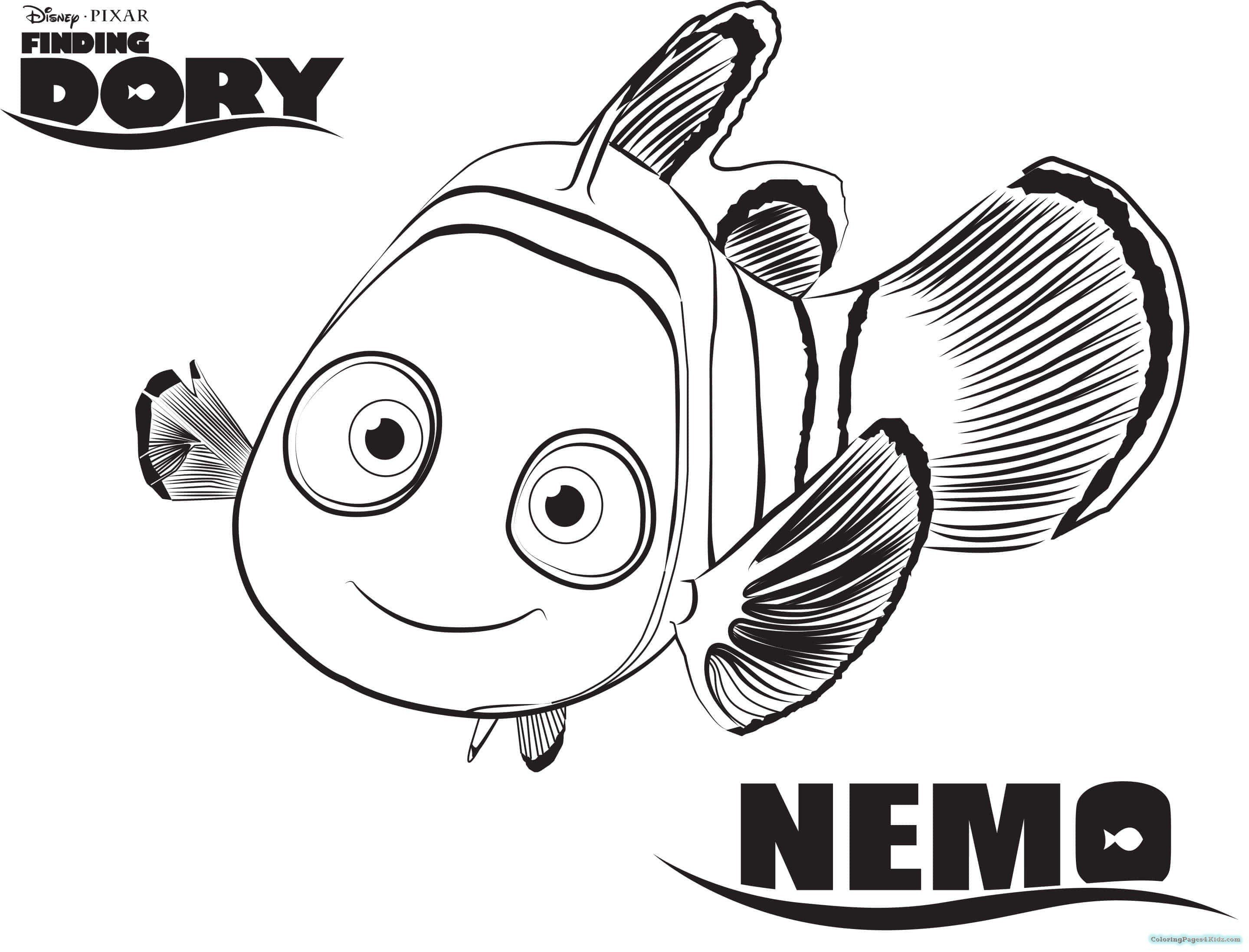 Finding Nemo Coloring Pages Luxury Finding Dory Coloring