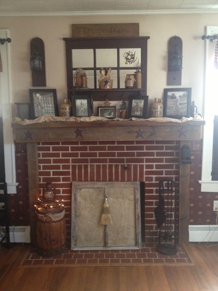 Primitive Fireplace Home Decor Decorating Ideas