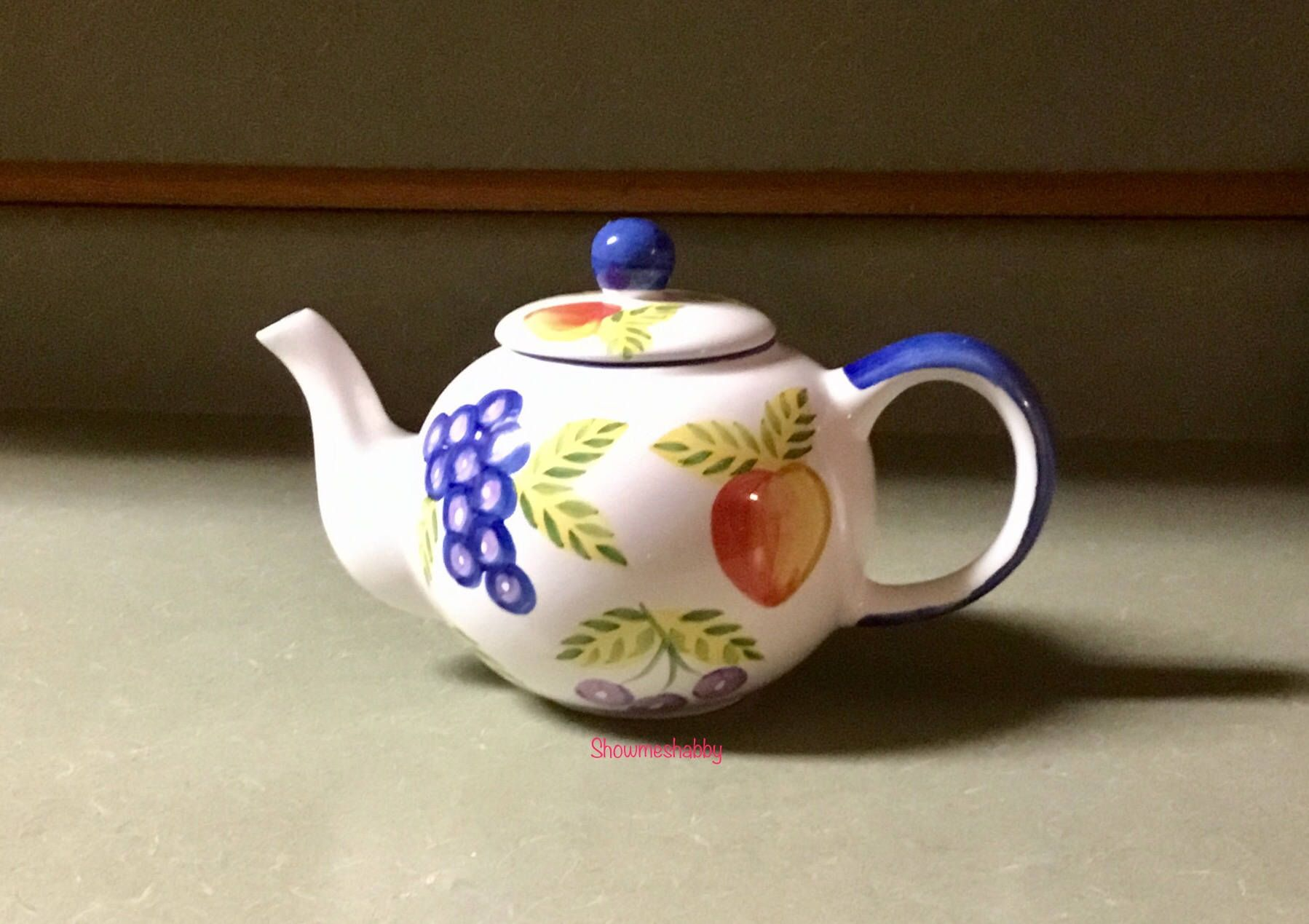 Teapot Orchard Jubilee By Artist S Touch