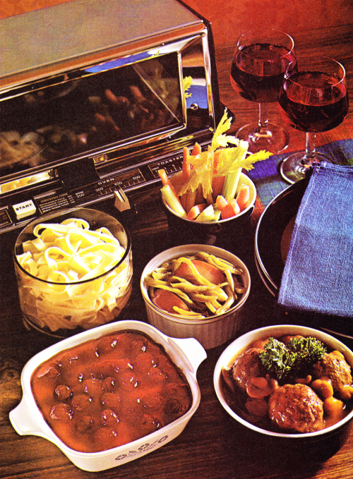 Toaster Oven 1970s Vintage Recipes Food Cooking