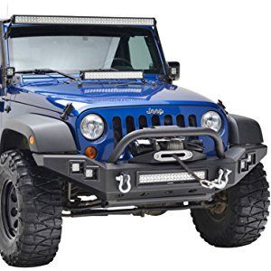 X-Stubby Front Bumper+Built in Winch Plate+Cover Fit 07-17 Jeep JK Wrangle