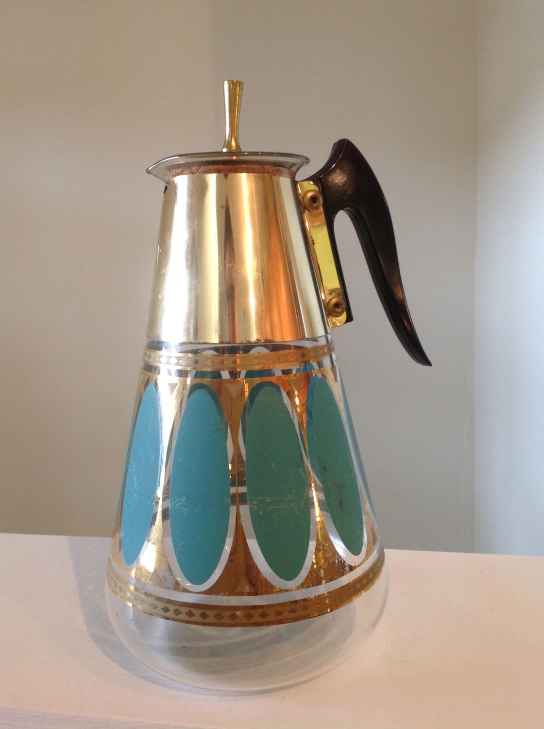 Vintage Fred Press Heat Proof Glass Coffee Carafe (With
