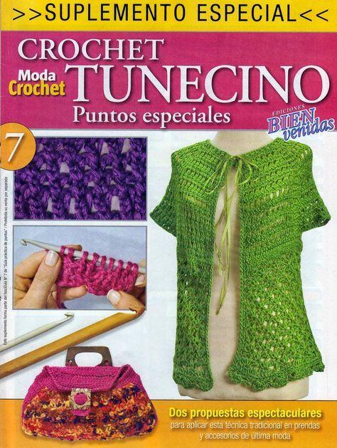 GRÁFICOS DE TEJIDOS.: CROCHET TUNECINO … | Pinteres…