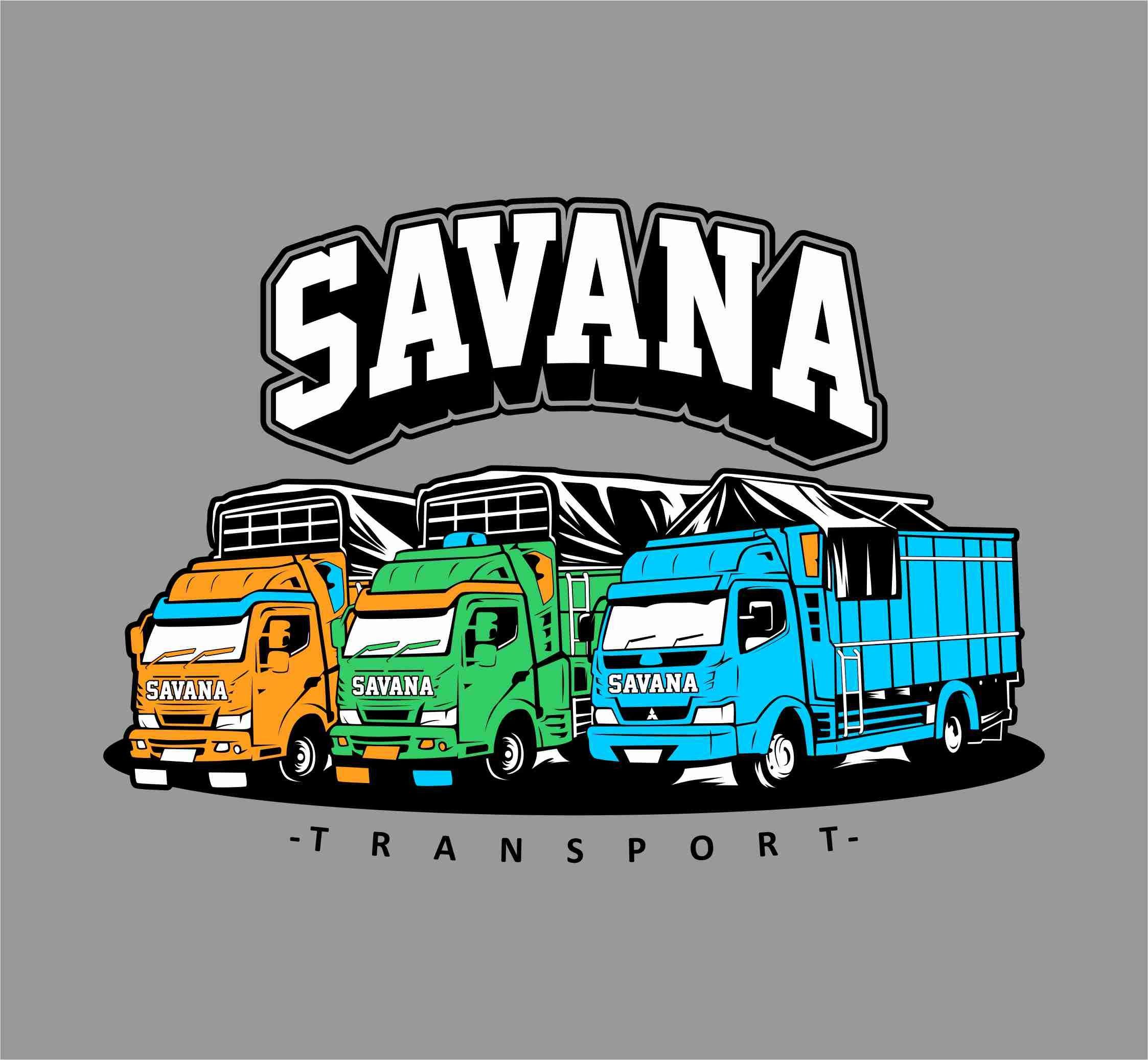 Truk Vector Savana Transport Konsep Mobil Desain Kartun