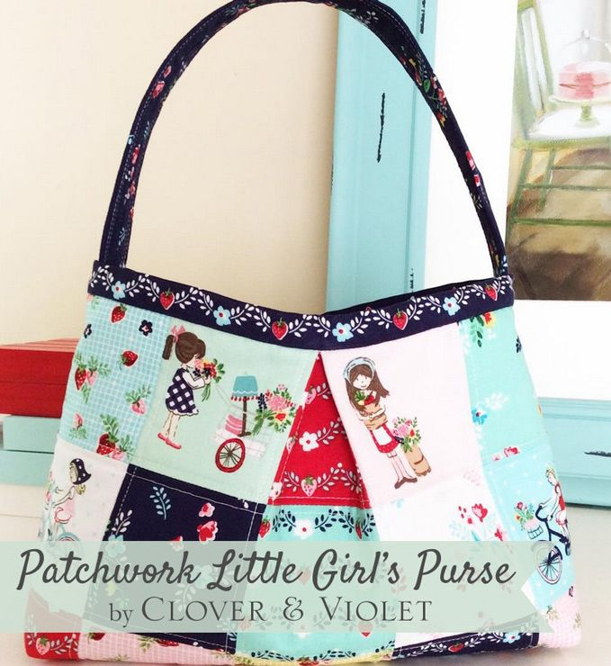 Child Toddler First Messenger Little Girl/'s Purse Bright Blue flowers