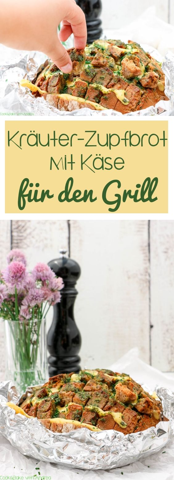 Photo of Kräuter-Zupfbrot mit Käse für den Grill – C&B with Andrea