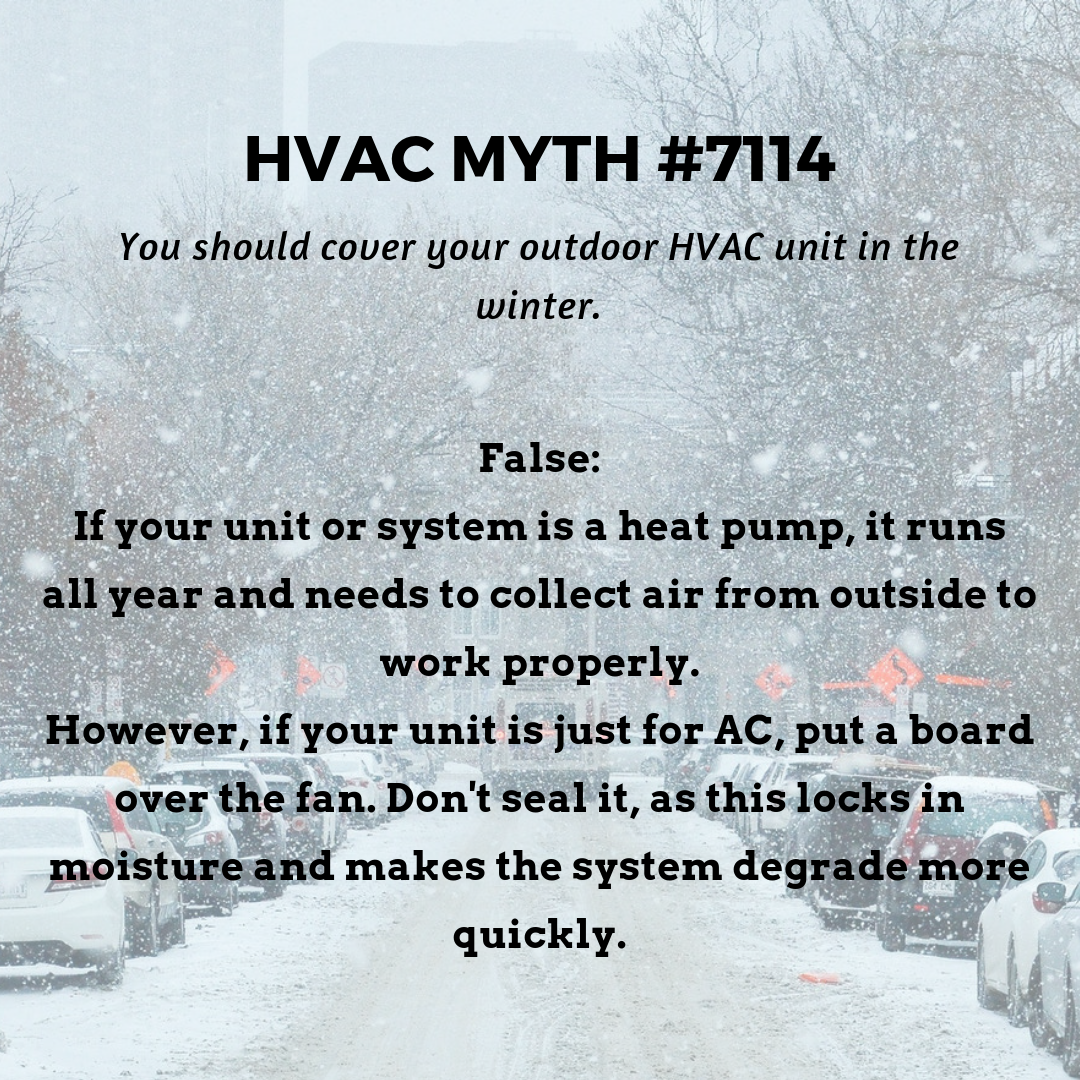 Don't cover your heat pump's outdoor unit in the winter