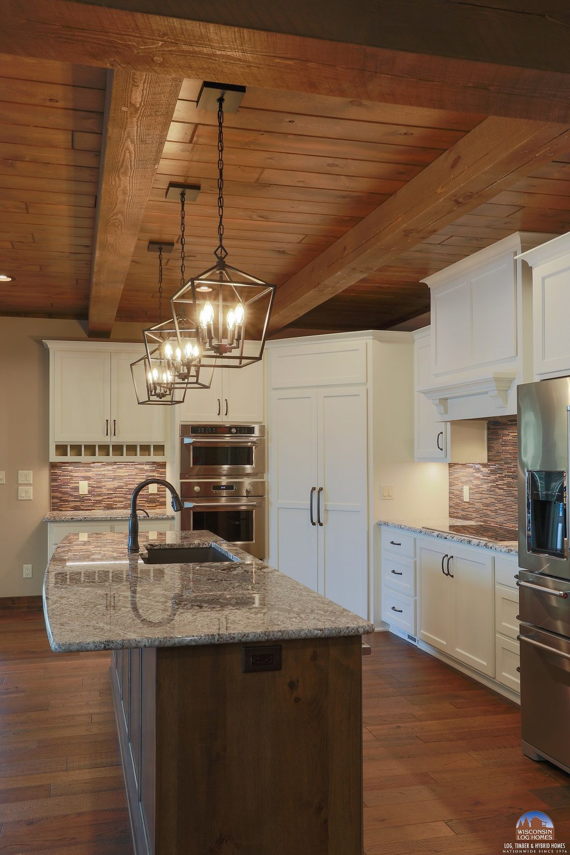 Pin By Wisconsin Log Homes On Kitchens Log Homes Kitchen Cabinets Kitchen