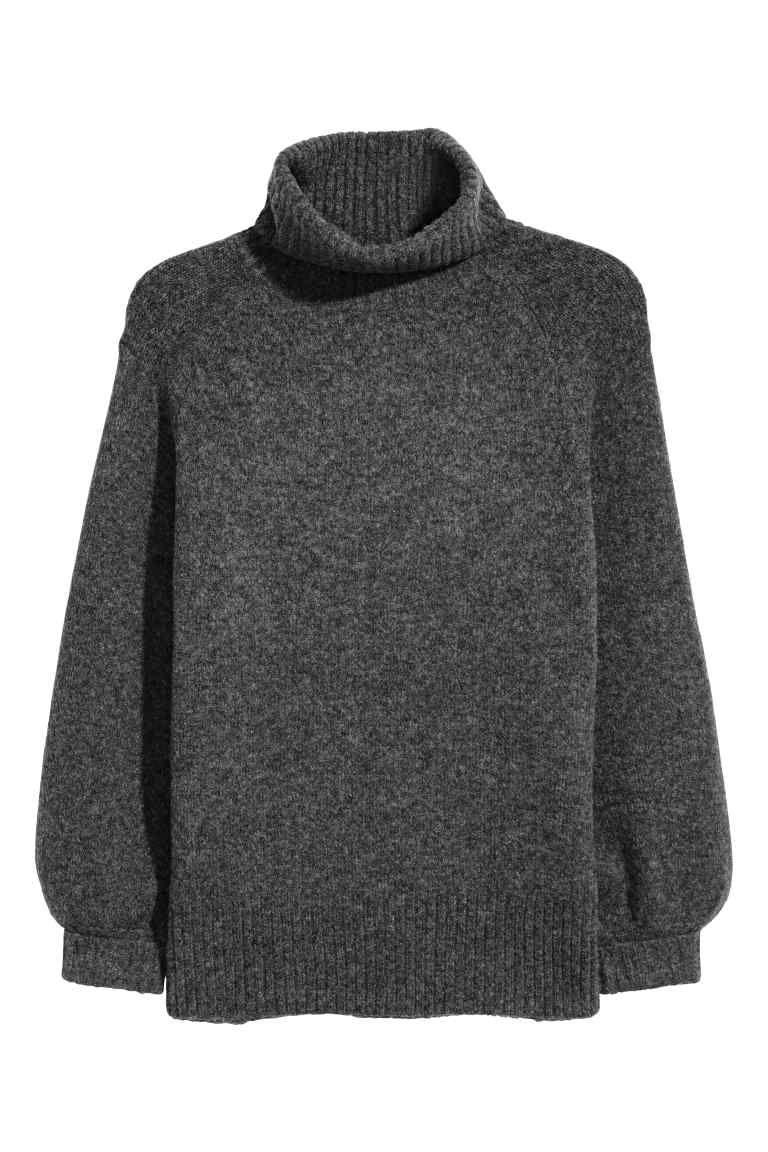838ea04fd7150 H M+ Pull col roulé - Gris foncé chiné - FEMME   H M FR   Vêtements ...