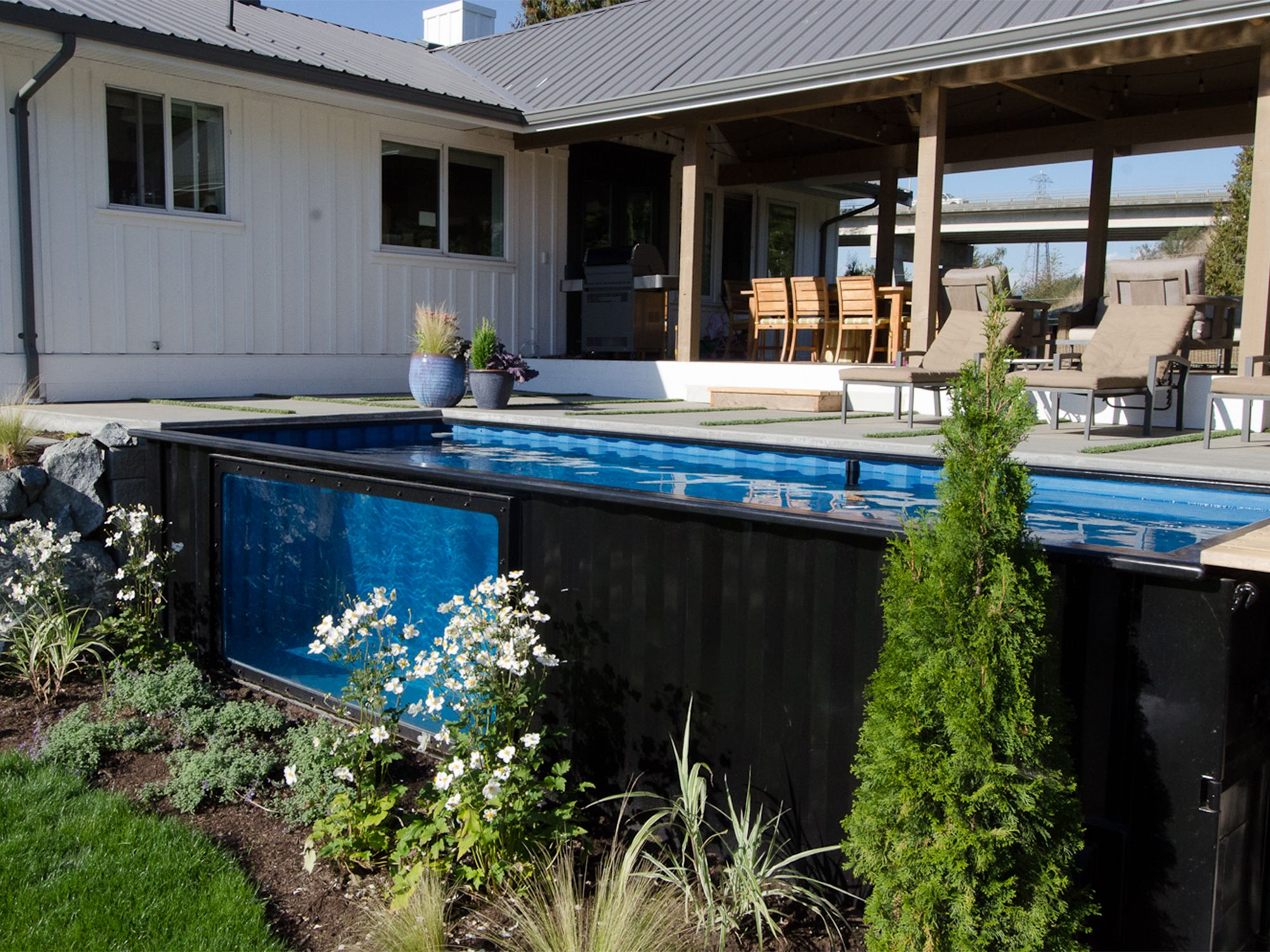 Shipping Container Swimming Pool - Container - Pinterest - Shipping