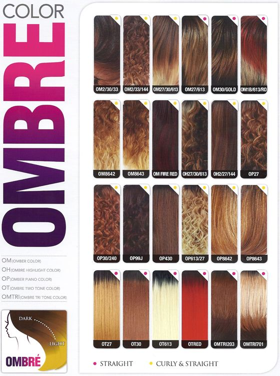 General ombre color chart also beauty pinterest colour rh