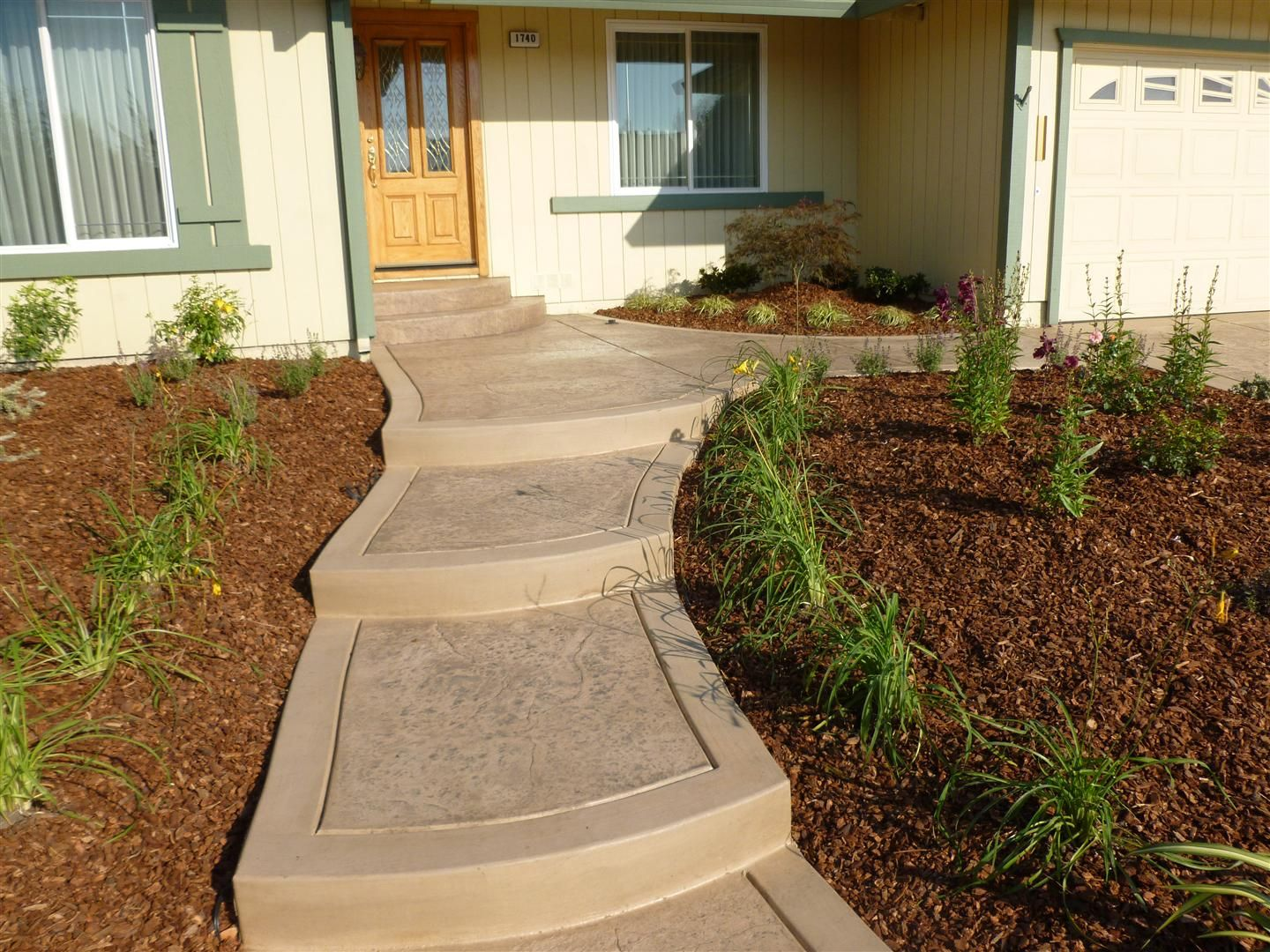 Best Front Yard Entry Walkways Completed Project Petaluma 400 x 300