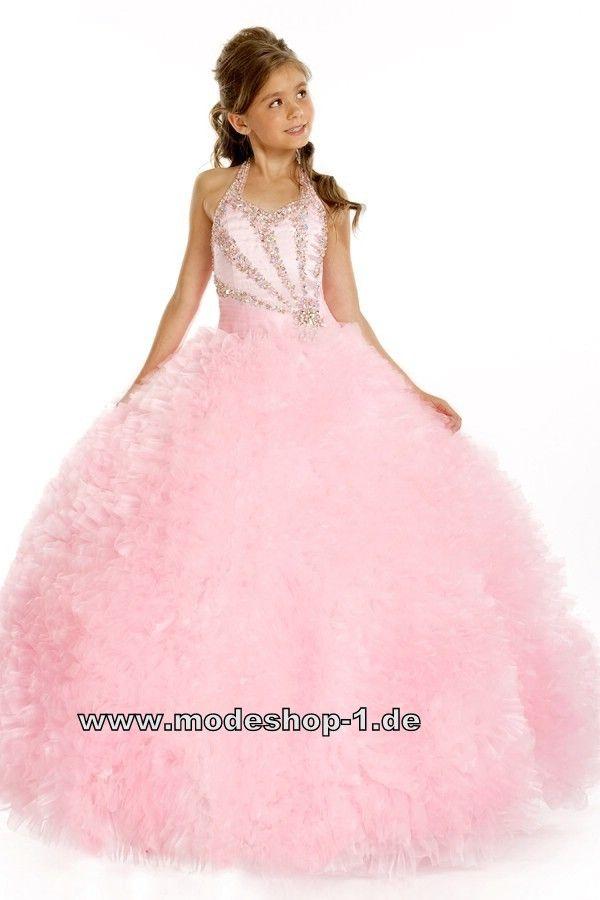 Rosa Prinzessin Ballkleid Abendkleid für Mädchen ...