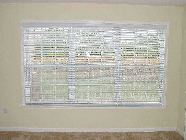 Fauxwood Blinds Three Blinds Under One Head Rail Give The