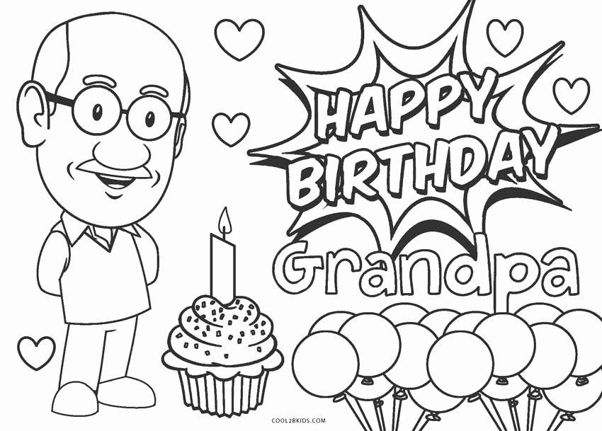 Happy Birthday Grandpa Coloring Page Beautiful Miscellaneous Coloring Pages In 2020 Happy Birthday Coloring Pages Birthday Coloring Pages Happy Birthday Grandpa