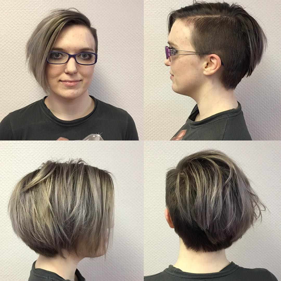 Short Bob With Shaved Side Hair Cuts Pinterest Short Bobs