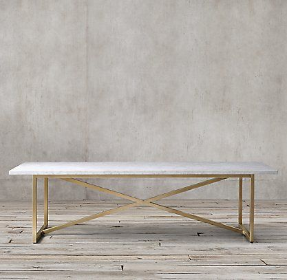 Rh S Torano Marble Rectangular Dining Table At Home