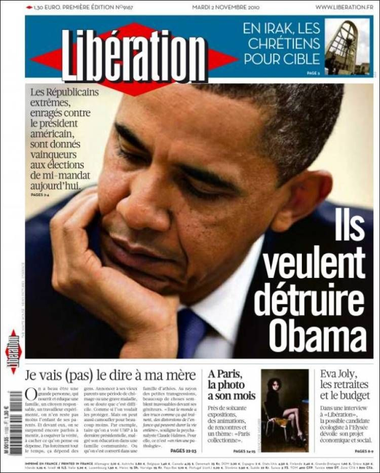 Libération - Mardi 2 Novembre 2010 - N° 9167