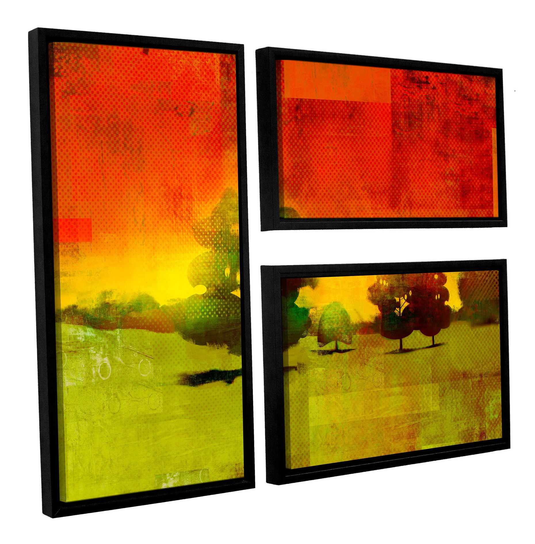 Tree Study\' by Greg Simanson 3 Piece Framed Painting Print on ...