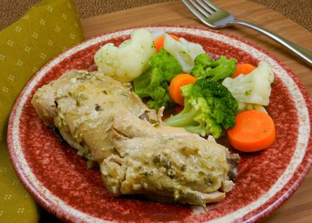 Picnic chicken. Very simple and yummy crock pot recipe