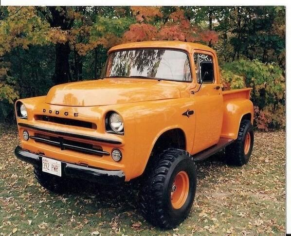 not a red dodge ram truck but a very nice orange red dodge power
