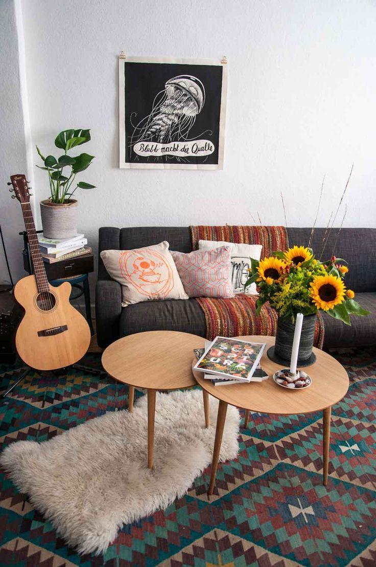 Our Wooden Vintage Coffee Tables Do Very Fine In Combination With Ethno  Style. Spätsommerliches Wohnzimmer   Deko   Mycs Couchtische    Hamburgvoninnen.de