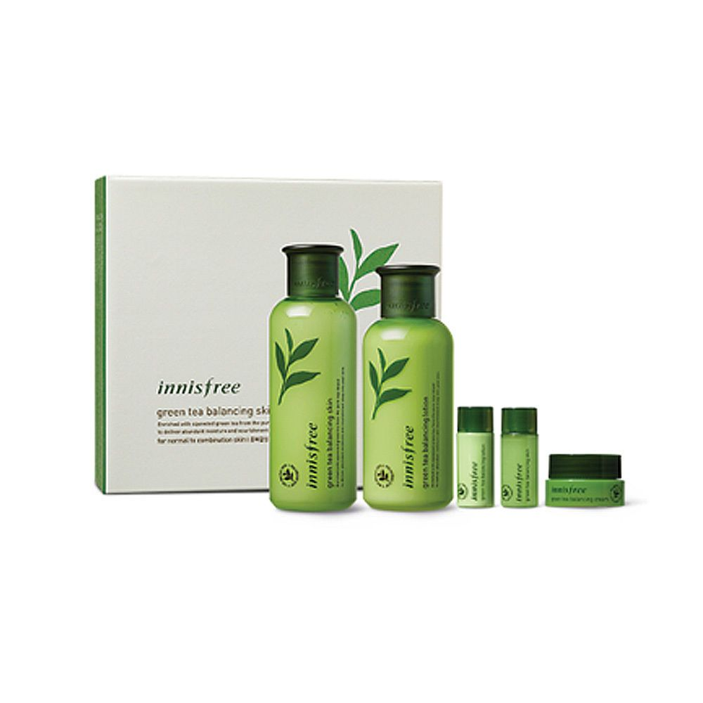 Innisfree Green Tea Balancing Special Skin Care Set Ex Free Gifts Skin Care Specials Skincare Set Skin Balancing