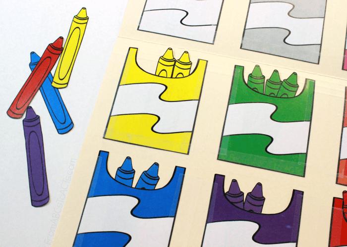Crayon Color Matching File Folder Game File folder games