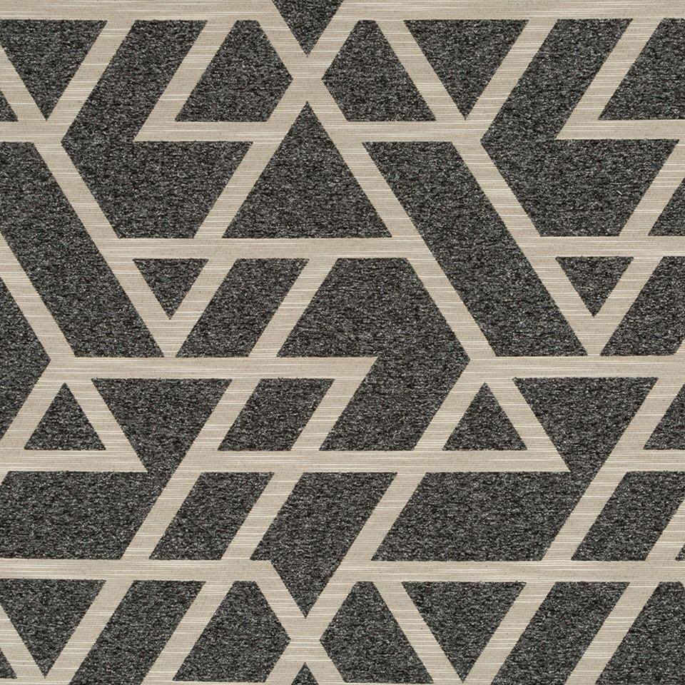 Charcoal Grey Geometric Upholstery Fabric Taupe Home Decor Fabrics