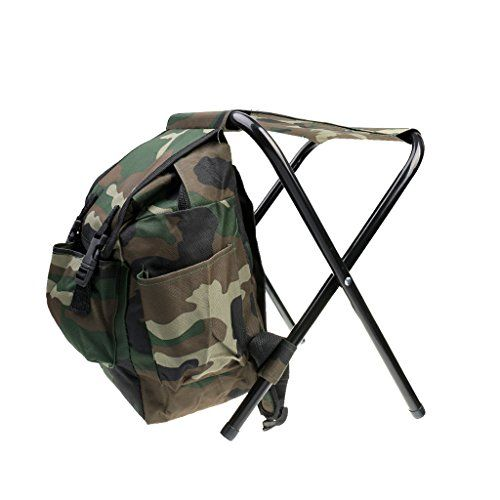 Fishing Chair Rucksack Folding Back Magideal 2 In 1 Stool Tackle Backpack Foldable Seat Camping Hunting
