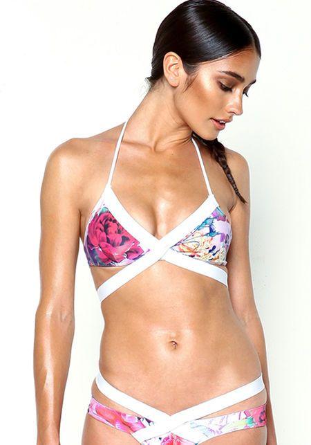 6410f0c30990d Strappy Bikini Top in Sound Garden - Private Arts x Love Culture