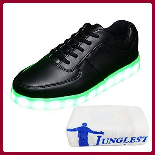 (Present:kleines Handtuch)Silber EU 45, JUNGLEST® Leuchtend Sport Glow 7 Tanzen Farbe mode LED Damen Party USB Sneakers Metallic für Aufladen