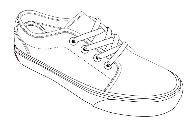 van chaussures outline