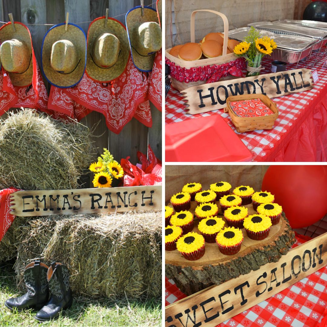 Country western cowgirl party emma is 3 country western for Decoration western country
