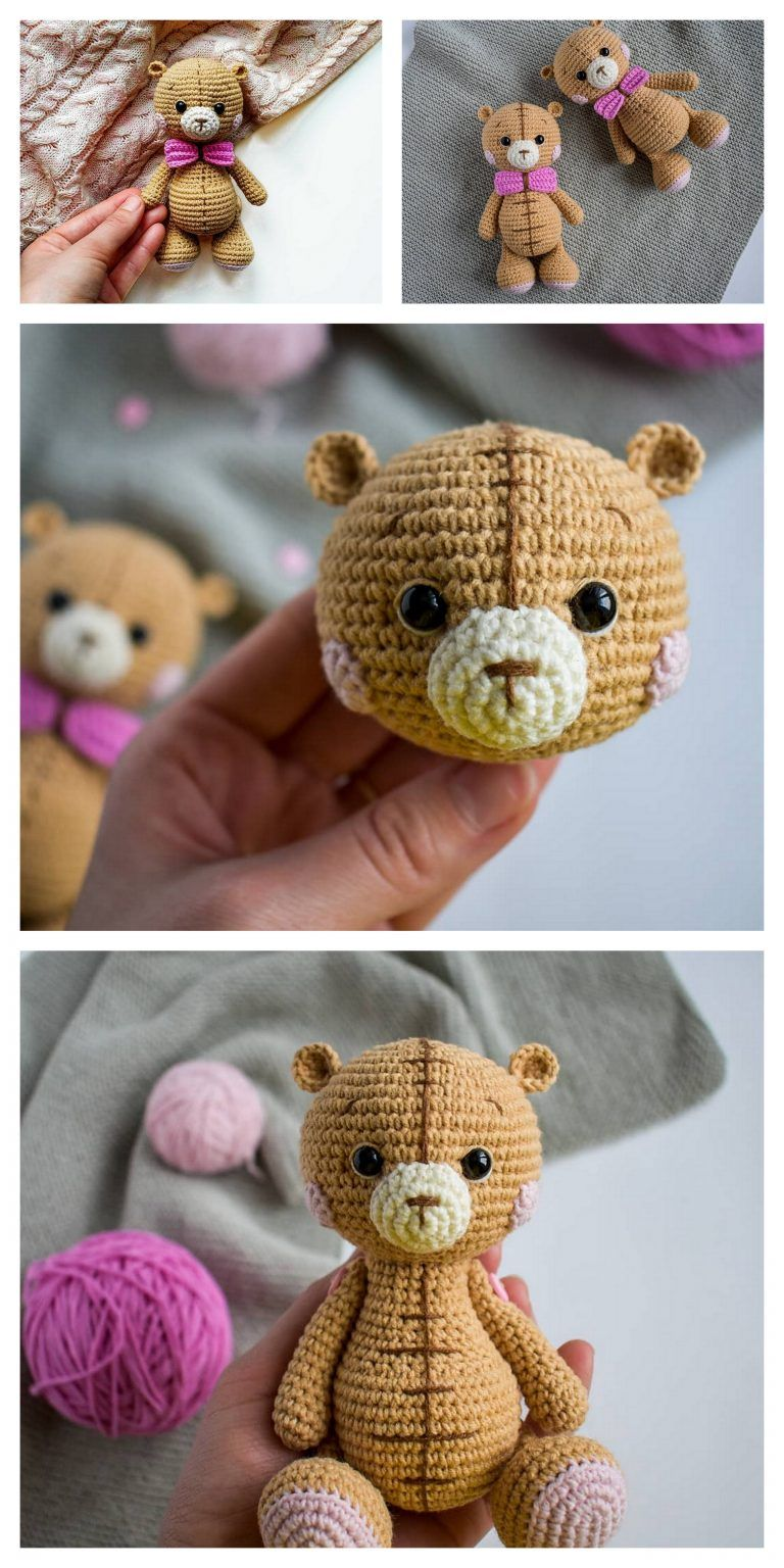 PATTERN Crochet Teddy bear. PATTERN Amigurumi Teddy bear. Tutorial ... | 1536x768