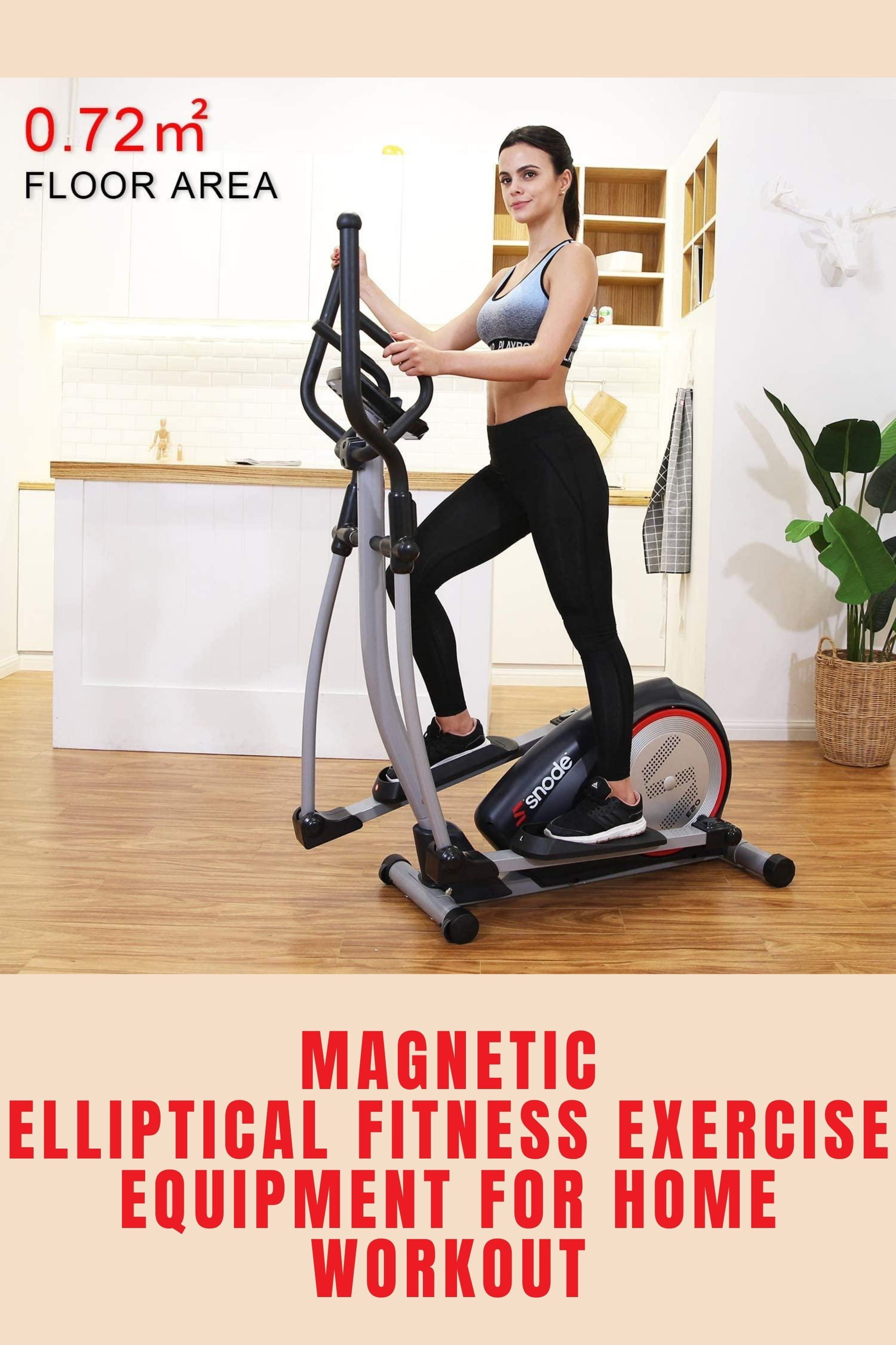 Magnetic Elliptical Fitness Exercise Equipment for Home Workout