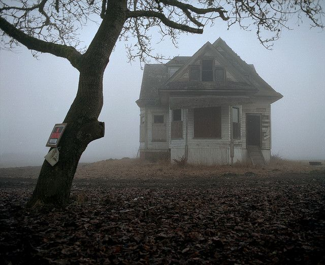 Wanna Come Over I M At The Condemned Place By The Tree Abandoned Houses Abandoned Places Creepy Houses