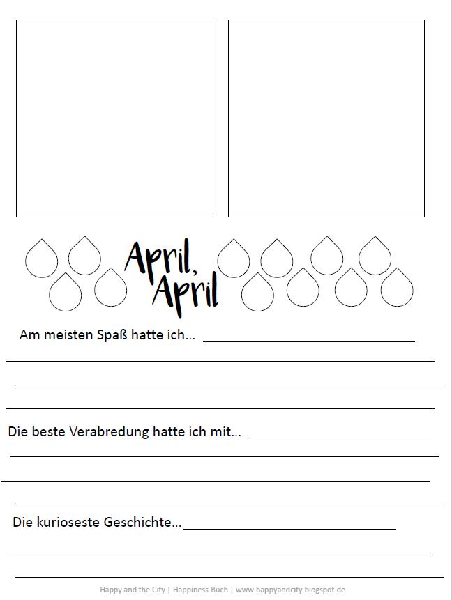 Happiness Buch Vorlage April 2016 - Mit der gratis Vorlage die ...