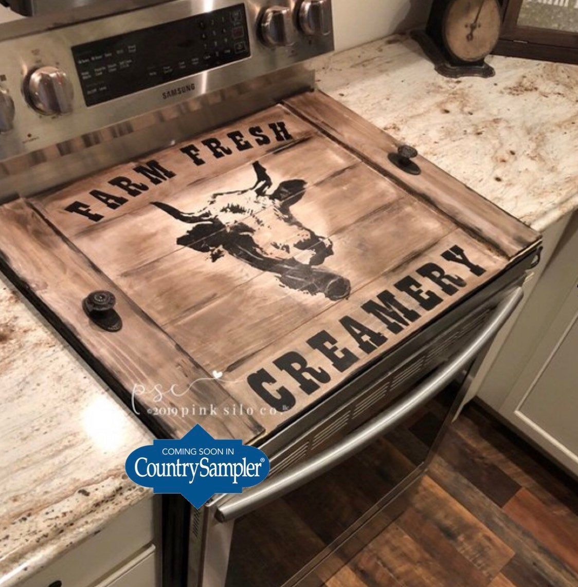 Farmhouse Stove Top Board Cow Stove Cover Dairy Stove Cover Noodle Board Cover For Stove Rustic Kitchen Decor 2020
