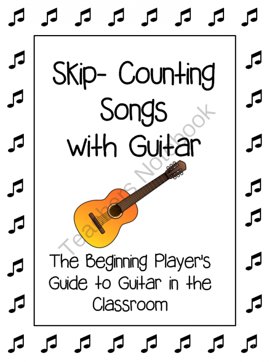 Skip Counting Songs With Guitar Chords For Beginners Music