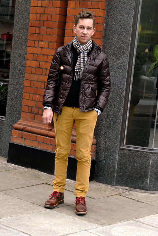 Men's Street Style - Mustard Madness