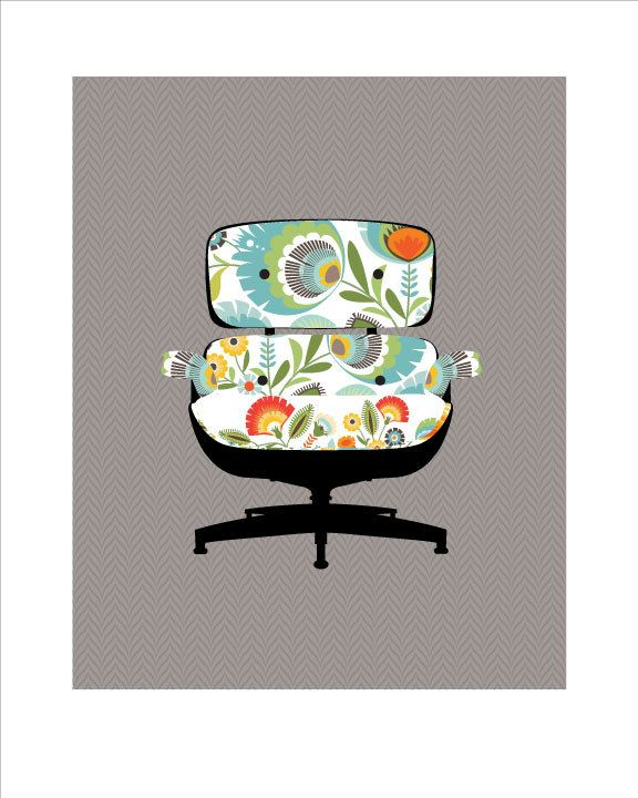 Eames Lounge Chair | Limited edition prints, Mid-century ...