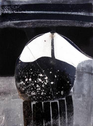 "Saatchi Art Artist Mark Fearn; Painting, ""Evening Abstraction 1"" #art  Evening Abstraction 1 Abstract in enamel, ink sand and white powder on canvas card unframed  http://www.fearnfineart.moonfruit.com http://www.saatchiart.com/markfearn"