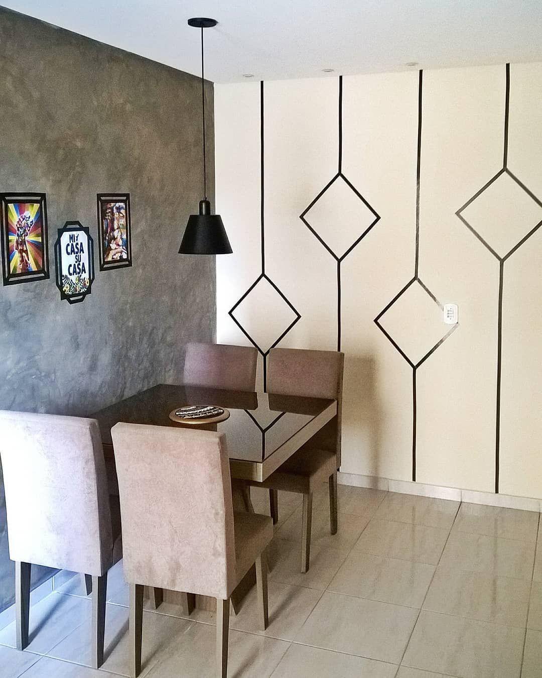 Decoracao Com Fita Isolante 100 Inspiracoes Para Fazer Ja 321866704620787152 Bedroom Wall Designs Bedroom Wall Paint Decor