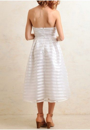 Lilia Striped Organza Dress   Modern Vintage Occasion   Modern Vintage Dresses   Modern Vintage Clothing   Ruche