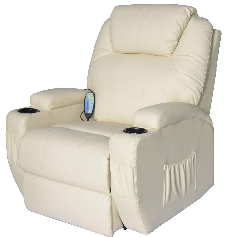 Amazon Hom Deluxe Heated Vibrating PU Leather Massage