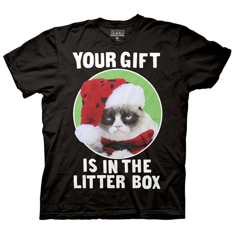 Grumpy Cat 'Your Gift is in the Litter Box' Shirt | Grumpy cat ...