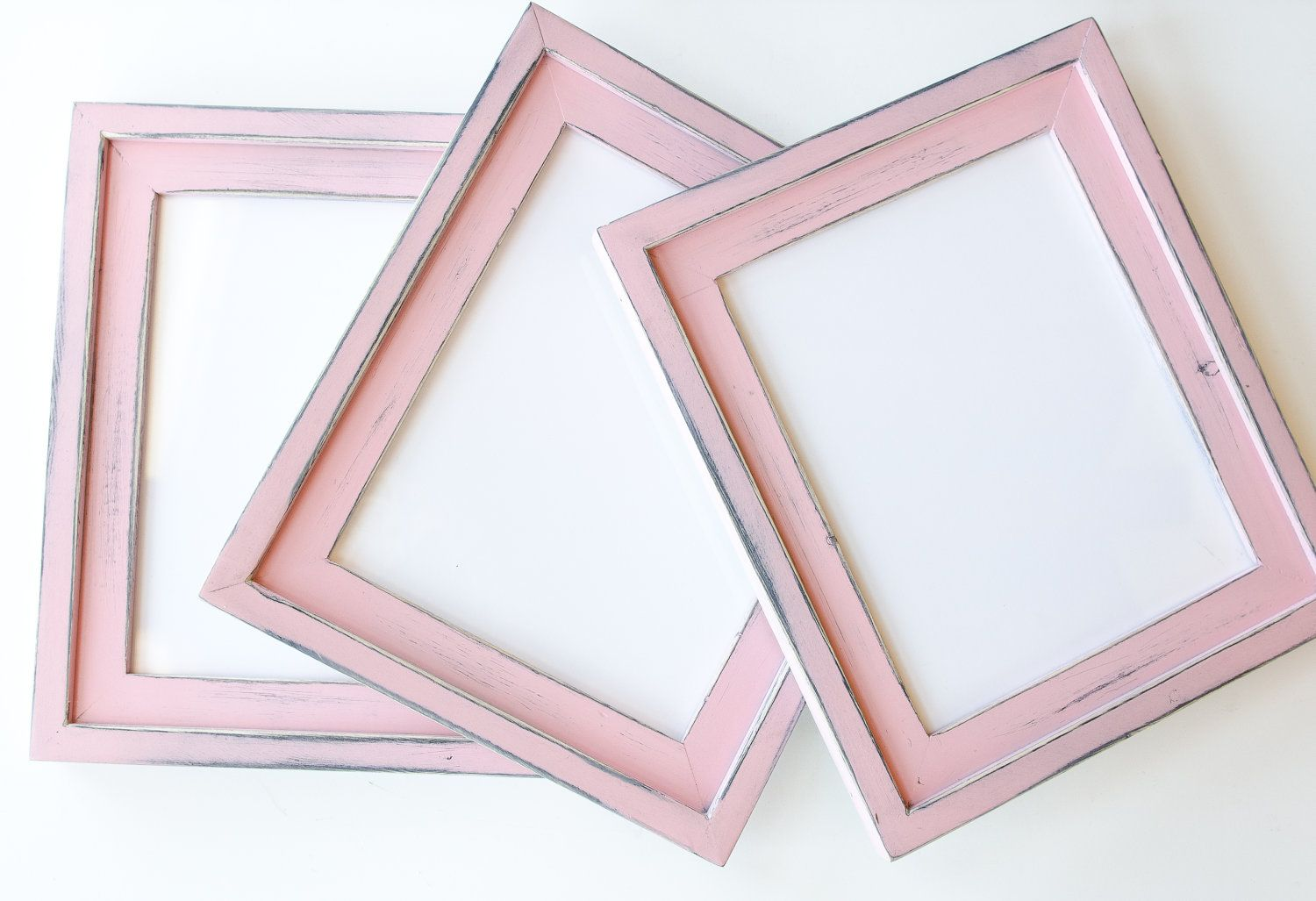 3 8x10 stacked pine distressed rustic picture frames pink 3 8x10 stacked pine distressed rustic picture frames pink great for any little jeuxipadfo Image collections