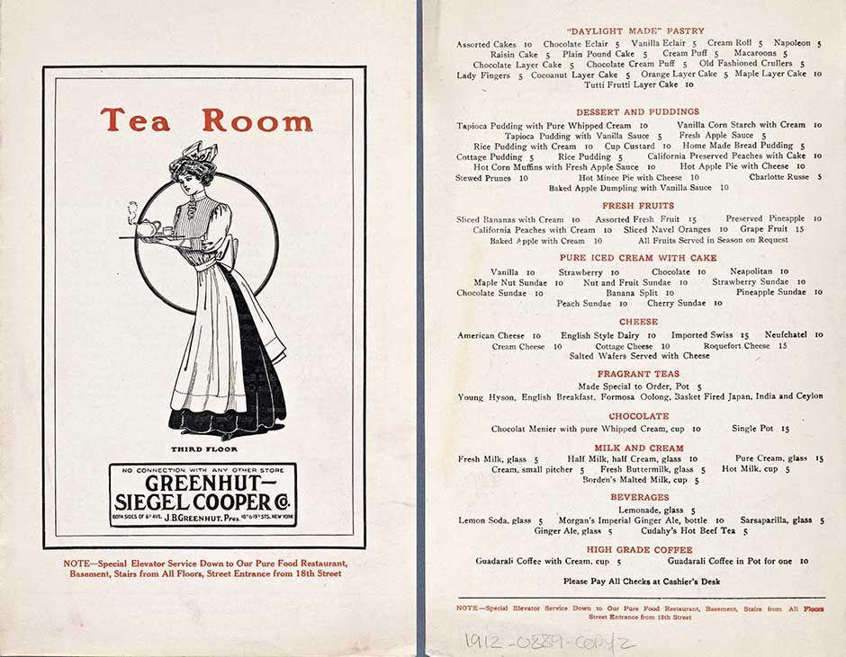 8 Scrumptious Vintage u201cTea Roomu201d Menus Tea Pinterest Vintage - menu
